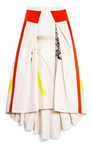 Medium carolina herrera multi multi modern art print silk faille ball skirt