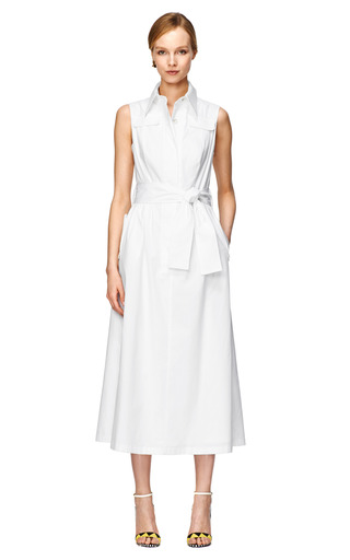 Stretch Cotton Shirt Dress by CAROLINA HERRERA Now Available on Moda Operandi