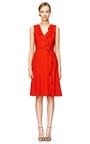 Rak Wool Creepe Dress by CAROLINA HERRERA Now Available on Moda Operandi