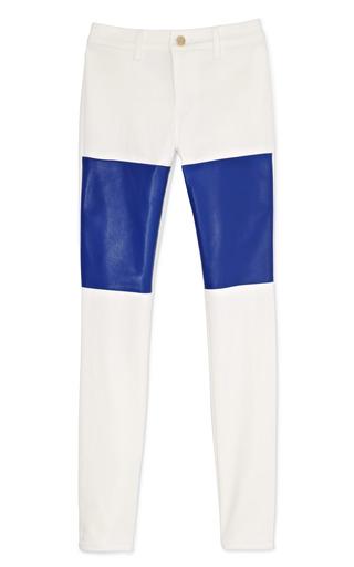 Medium max fowles white denimleather pants