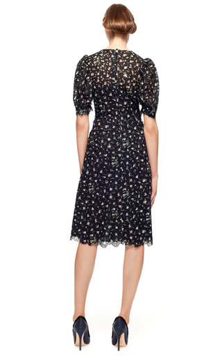 Little Flower San Gallo Puff Short Sleeve Dress by VALENTINO Now Available on Moda Operandi