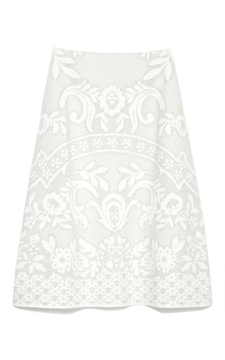 Knit Matelasse A Line Skirt by VALENTINO Now Available on Moda Operandi