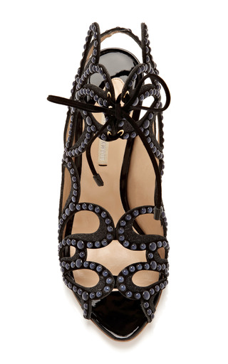 Studded Leather And Suede Sandals by NICHOLAS KIRKWOOD Now Available on Moda Operandi