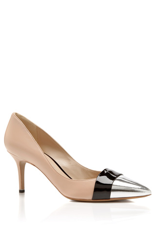 Metallic And Patent Leather Pumps by NICHOLAS KIRKWOOD Now Available on Moda Operandi