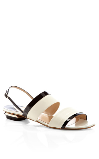 Metal Combination Flat Sandal by NICHOLAS KIRKWOOD Now Available on Moda Operandi