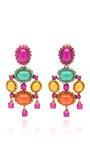 Capri Iconic Opaque Cabochon Drop Earring by OSCAR DE LA RENTA Now Available on Moda Operandi
