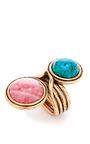 Two Stone Cabochon Ring by OSCAR DE LA RENTA Now Available on Moda Operandi