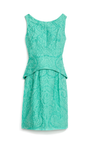 Sleeveless Tromp L'oeil Dress by OSCAR DE LA RENTA Now Available on Moda Operandi