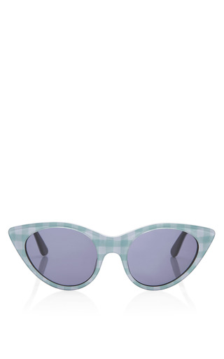 Medium opening ceremony multi cat eye sunglasses in seafom gingham