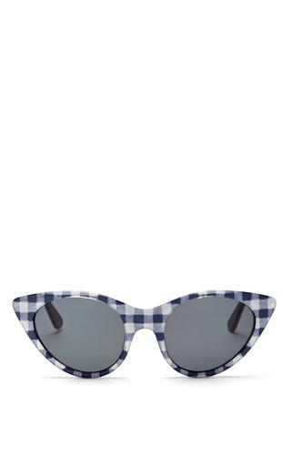 Medium opening ceremony multi cat eye sunglasses in navy gingham