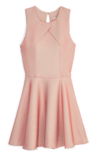 Medium opening ceremony pink larson stripe dress