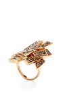 Rose Gold Alexandra Tempestato Ring by CA & LOU Now Available on Moda Operandi