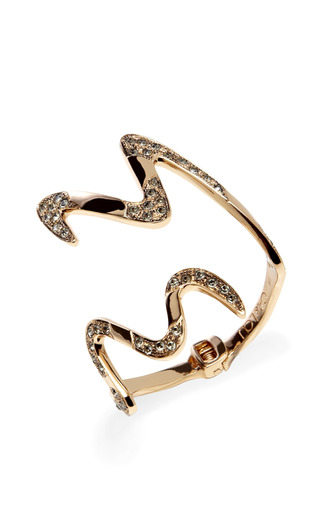 Rose Gold Carine Contrarie Bracelet by CA & LOU Now Available on Moda Operandi