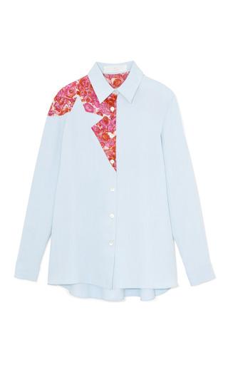 Medium thakoon addition blue denim star blouse