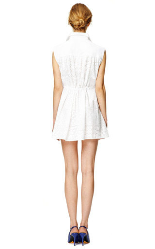 Eyelet Shirtdress by THAKOON ADDITION Now Available on Moda Operandi