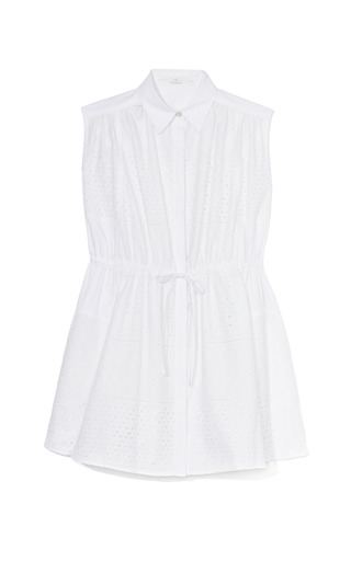 Medium thakoon addition white eyelet shirtdress