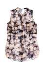 Sleeveless Floral Printed Blouse by DELPOZO Now Available on Moda Operandi