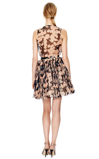 Floral  Pleated Skirt by DELPOZO Now Available on Moda Operandi