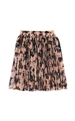 Medium delpozo print floral pleated skirt