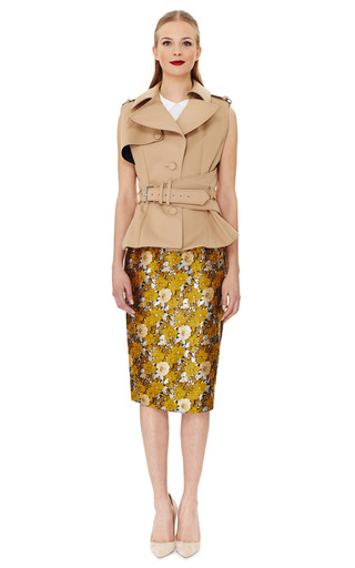 Sleeveless Trench Top by BOUCHRA JARRAR Now Available on Moda Operandi