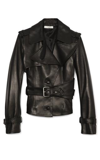 Medium bouchra jarrar black leather jacket