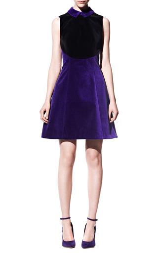 Medium christopher kane purple collared velvet dress
