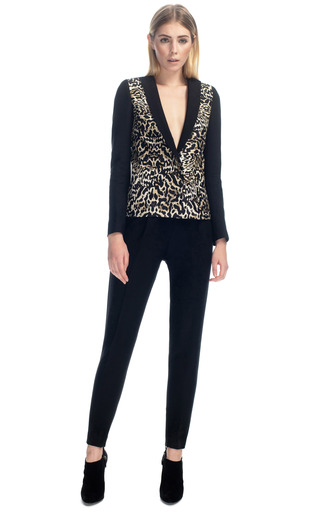 Medium giambattista valli black pintuck pant