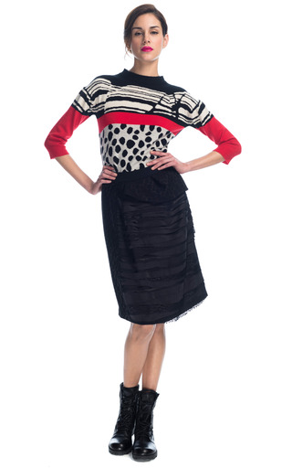 Medium preen black raine skirt