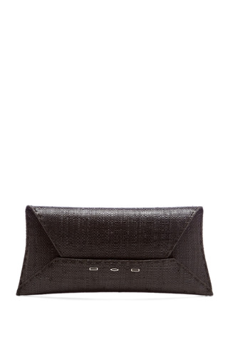 Medium vbh black manila g raffia clutch