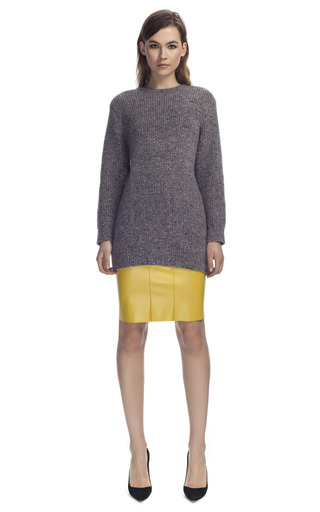 Chartreuse Pencil Skirt by CéDRIC CHARLIER for Preorder on Moda Operandi