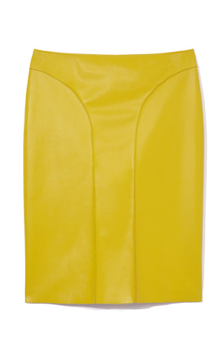 Medium cedric charlier yellow chartreuse pencil skirt