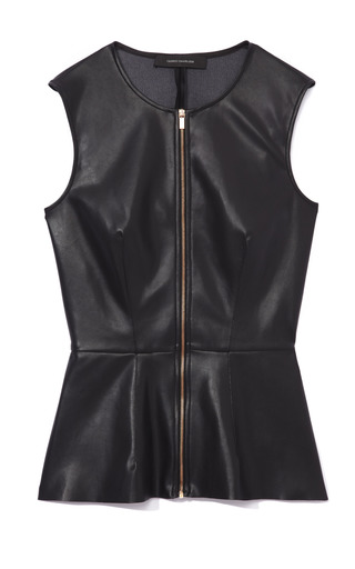 Medium cedric charlier black leather top