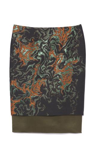 Medium cedric charlier multi metallic thread skirt