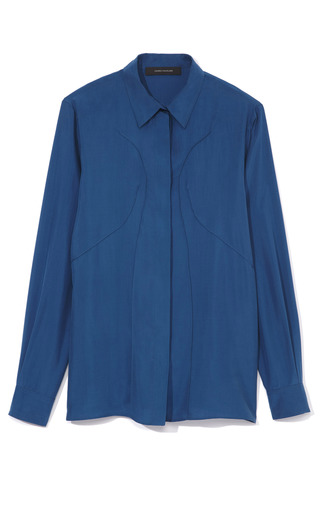 Seamed Silk Blouse by CéDRIC CHARLIER for Preorder on Moda Operandi