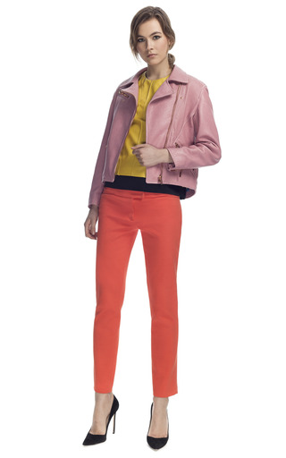 Orange Cropped Trousers by CéDRIC CHARLIER for Preorder on Moda Operandi