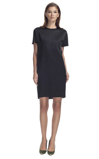 Medium cedric charlier dark grey two tone tapered dress