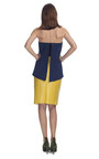 Two Tone Strapless Dress by CéDRIC CHARLIER for Preorder on Moda Operandi