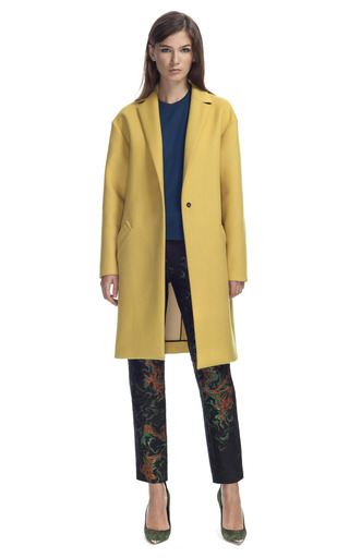 Medium cedric charlier yellow chartreuse coat