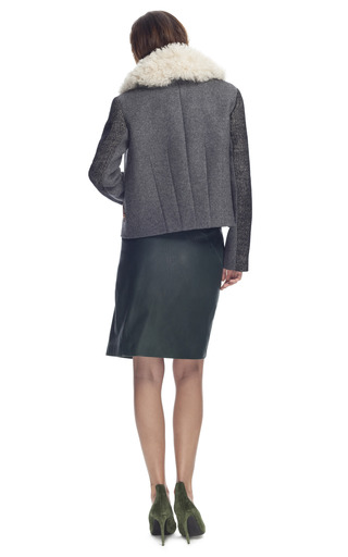 Patchwork Tweed Jacket by CéDRIC CHARLIER for Preorder on Moda Operandi