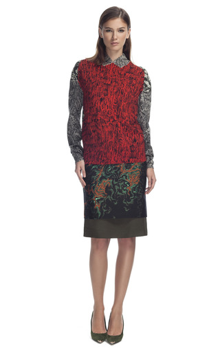 Faux Collar Sweater by CéDRIC CHARLIER for Preorder on Moda Operandi