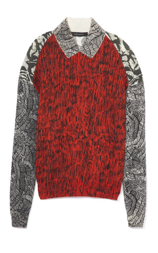Medium cedric charlier multi faux collar sweater