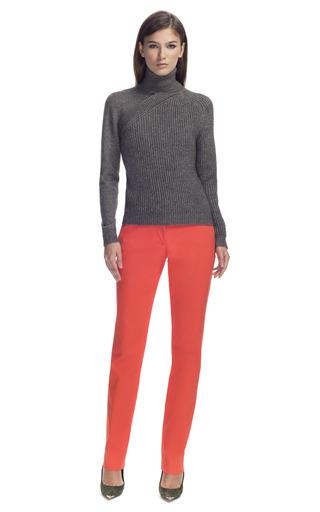 Medium cedric charlier dark grey faux double layer turtleneck sweater