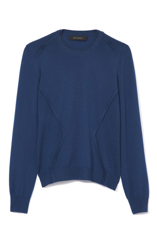 Medium cedric charlier blue perforated sweater