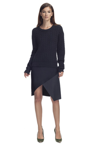 Navy Chunky Knit by CéDRIC CHARLIER for Preorder on Moda Operandi