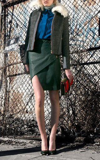 Leather Wrap Skirt by CéDRIC CHARLIER for Preorder on Moda Operandi