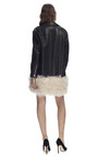 Shearling Hem Leather Coat by CéDRIC CHARLIER for Preorder on Moda Operandi