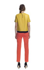 Chartreuse Leather Top by CéDRIC CHARLIER for Preorder on Moda Operandi