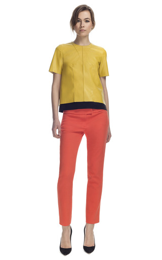 Medium cedric charlier yellow chartreuse leather top