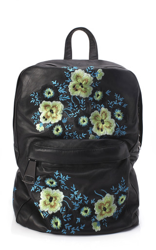 Medium christopher kane multi bouquet embroidered leather backpack