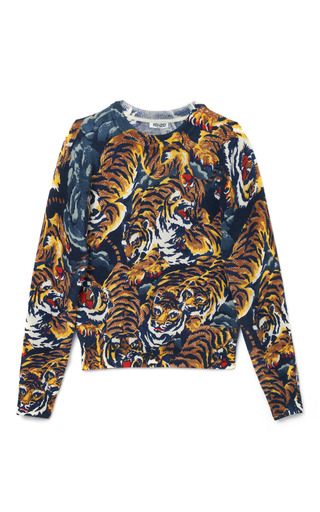 Medium kenzo print flying tigers sweater